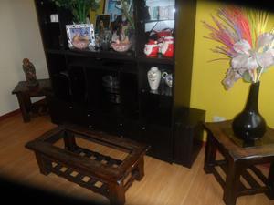Juego de mesas de sala centro en madera pino posot class for Mesas de madera para sala