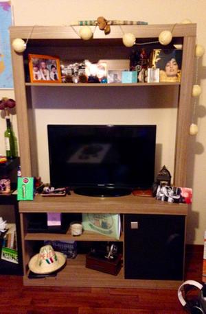 Oferta mueble auxiliar blanco alto cocina posot class for Mueble auxiliar tv