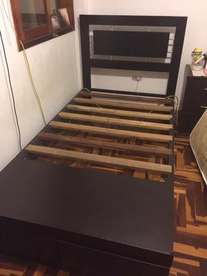 Vendo cama corral de plaza y media posot class for Precio cama una plaza