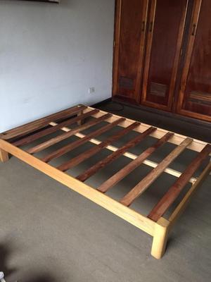 Tarima de madera 2 plazas posot class - Tarimas para camas ...