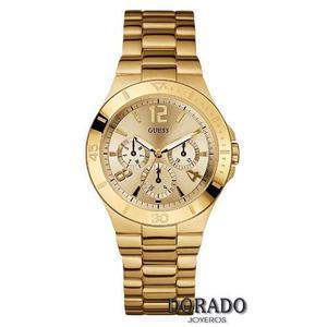 Oferta Reloj Dorado Guess Original Mujer En Caja
