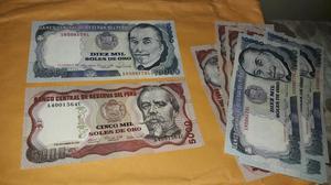 Billetes Antiguos de Perú