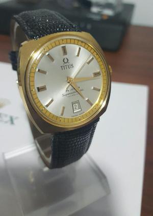 Reloj Titus Automático 18k Vintage