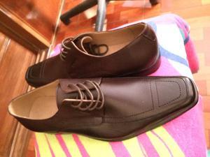 Zapatos Vestir Cafe Nuevos