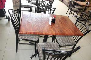 Juego de comedor metalico con cuatro sillas posot class - Comedor de cuatro sillas ...