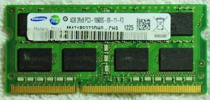 Memoria Samsung Sodimm Ddr3 4gb Pcmhz Cl9