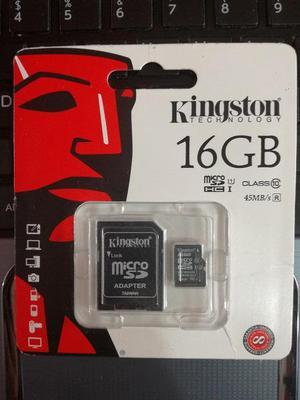MicroSD Kingston 16Gb Clase 10 NUEVO