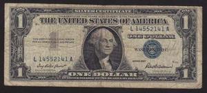 Billete 1 Dolar, Sello Azul , Silver Certificate
