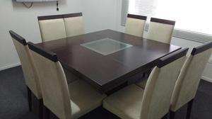 Juego comedor mica figalo 8 silla saga falabella posot class for Comedor 8 sillas usado