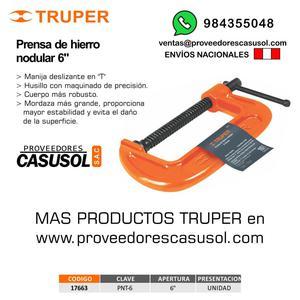 PRENSA TIPO C PARA CARPINTERIA 6 TRUPER