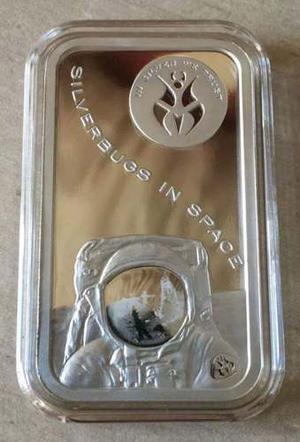 01 Onza Medalla De Plata 99.9% Astronauta Buzz Aldrin.