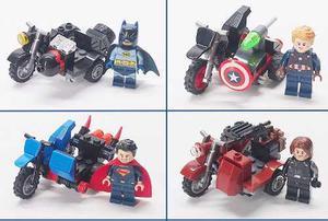 Legos Minifiguras Superheroes Con Bicicleta