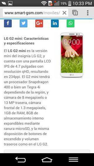 cambio lg g2 mini mas memoria de 8gb por otro celular ojo
