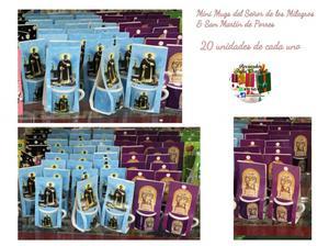 Mini Mugs Decorativos del Señor de Los Milagros ó San