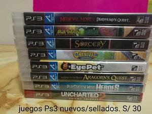 Juegos Ps3 0riginal/sellado Uncharted 2 Y Mas