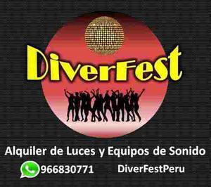 1.-alquiler De Luces Sicodelicas Y Equipos De Sonido En Lima