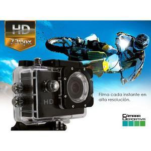 Camara Sports Full Hd p Acuatica Waterproof 30 Metros
