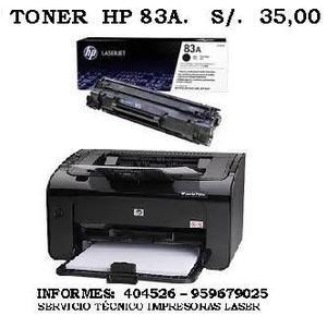 TONER HP 83A. PARA IMPRESORA LASER