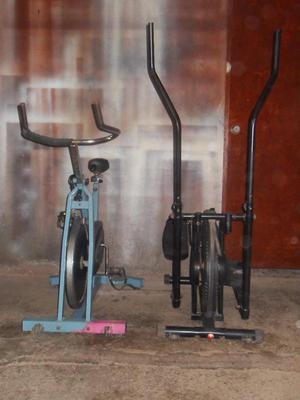 bicicleta elíptica y bicicleta para gym