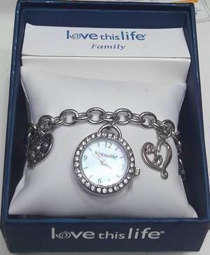 Reloj Pulsera Plateado Para Mujer Love This Life USA