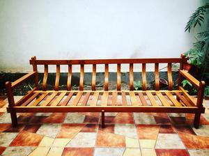 Juego de terraza de madera con cojines posot class for Vendo muebles terraza