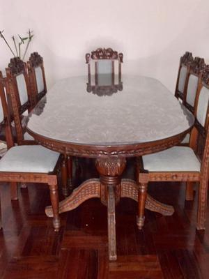Juego sala comedor y mueble todos tallados  Posot Class
