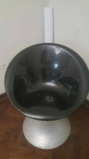 Silla Giratoria Negra Acrilica