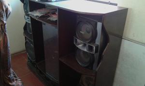 Mesa para tv equipo de sonido lima posot class - Modulo para tv ...