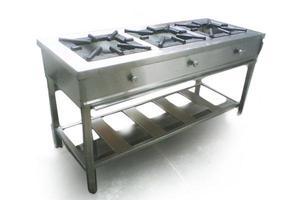 Cocina de tres hornillas super industrial posot class for Cocina 06 hornillas
