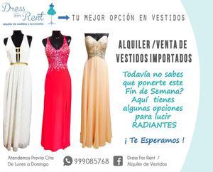 Alquiler y venta de Vestidos Importados