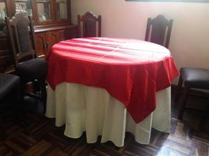Vendo mantel mesa redonda 4 persona amarilla2 posot class - Mesa redonda 4 personas ...
