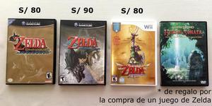 Juegos de The Legend of Zelda para Nintendo Gamecube y Wii