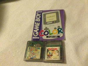 Vendo Dos Juegos De Gameboy Y Un Manual De Gameboy Original