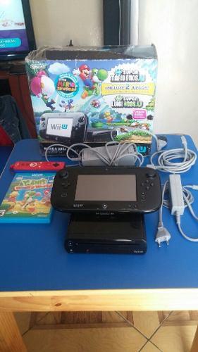 Nintendo Wii U De Luxe 32 Gb Negro Excelente Estado