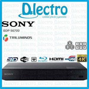 Reproductor Blu Ray Sony 3d 4k Ultra Hd Wi-fi Bdp-s