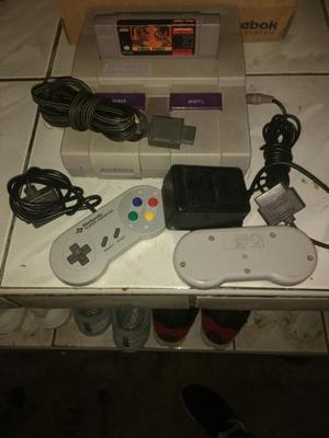 Super Nintendo 2 Mandos Cables Y Transformador Originales