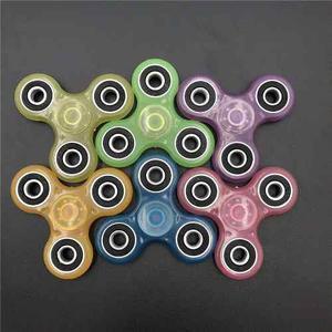 Fidget Spinner Brillante Profe Plástico Edc Color Variados