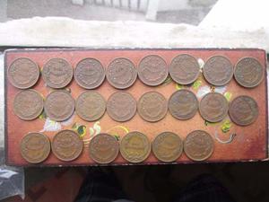 Hn Peru Moneda 2 Centavos De Cobre Por Años Lote 17 Monedas