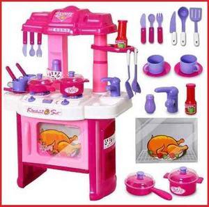 Juguete Cocina Para Niñas + Accesorios Musical Kitchen