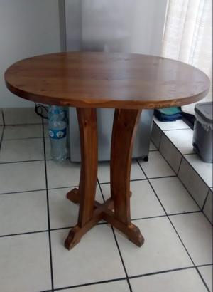 Mesa ovalada comedor o cocina y sillas posot class - Mesa de cocina madera ...