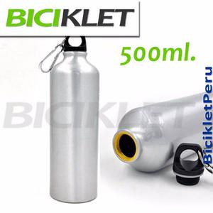 Botella Aluminio O Acerado Tomatodo 500ml Para Bicicleta