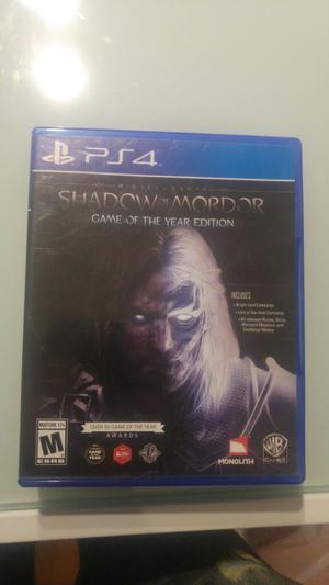 Juego Ps4 Shadow Of Mordor