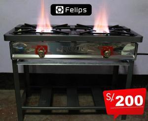 Remato cocina industrial inoxidable 03 hornillas posot class for Cocina 06 hornillas