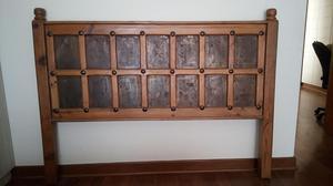 Cama antigua de madera con cabecera tipo estante posot class - Cama antigua de madera ...