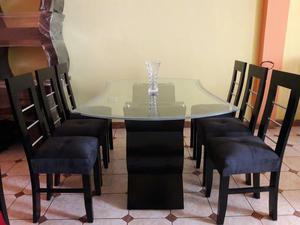 Nuevo juego de comedor 6 sillas lima posot class for Juego de comedor lima