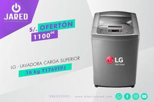 LG Lavadora Carga Superior 16 kg TTPJ Plateado