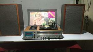 Tornamesa National Panasonic, Radio, Casette, Tocadiscos Ok