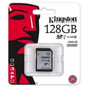 Memoria Sdxc 128gb Kingston Clase 10 Uhs-i 45mb/seg