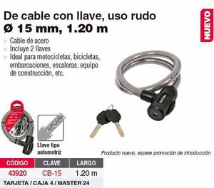 No Juguete - Cadena Seguridad Acero Laminado Hermex Moto