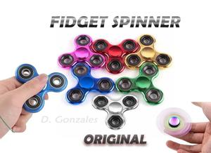 Fidget Spinner Cromado Metal Originales